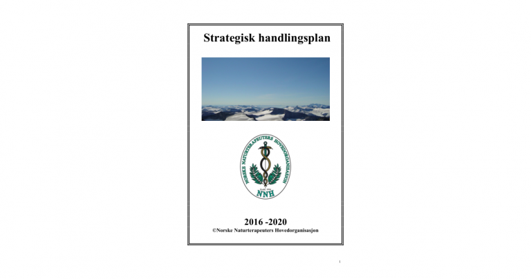 Forsiden til NNHs strategiske handlingsplan for 2016-2020