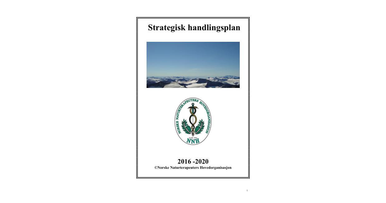 Forsiden til NNHs strategiske handlingsplan for 2016-2020