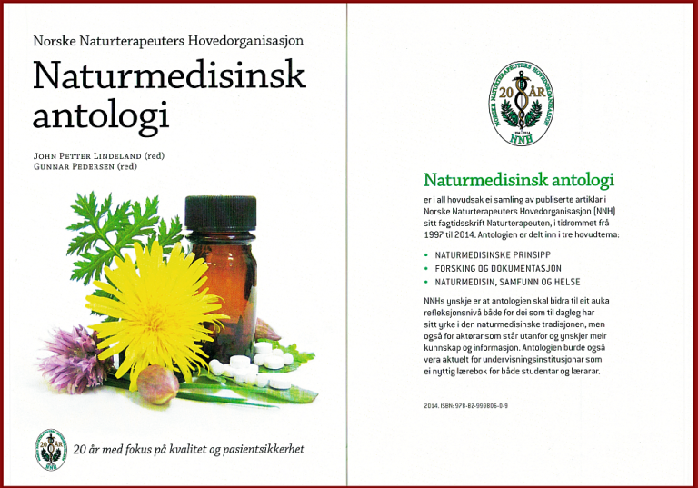 Bilde av forsiden av boken Naturmedisinsk antologi